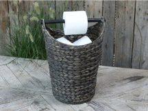 Vintage Fekete Toalettpapír Tartó - 40 cm.