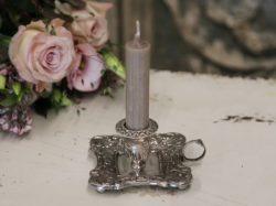 Gyertyatartó, mécsestartó antik ezüst színben
