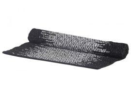 Vintage Fekete / Fehér Futószőnyeg Újrahasznosított Bőrrel