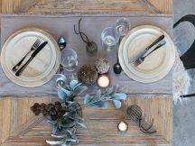 Vintage Hamuszürke Asztali Futó