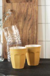 "MYNTE ""Mustársárga"" Cafe Latte Pohár - 6 db."