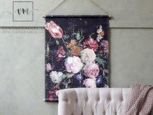 """Vintage """"French floral"""" Akasztható Fali Kép - 97 cm."""