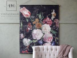 """Vintage """"French floral"""" Akasztható Fali Kép - 145 cm."""