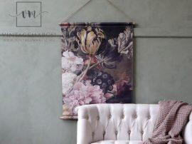 """Vintage """"Paris floral"""" Akasztható Fali Kép - 97 cm."""