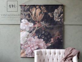 """Vintage """"Paris floral"""" Akasztható Fali Kép - 145 cm."""