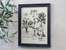 "Antik Fekete ""flower motif"" Kép - 43 cm."