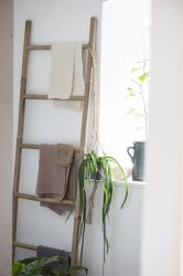 Vintage Bambusz Dekorációs Létra
