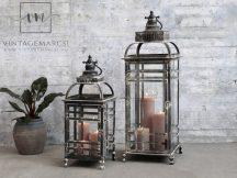 """Antik Fekete """"Paris"""" Padló Lámpás  - 67 cm."""