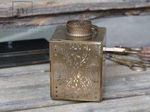 Antik Réz Francia Lámpás - 14,5 cm.