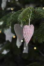 """""""My Nostalgic Christmas"""" Akasztható 6 Darabos Szív Dekoráció"""