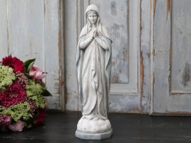 Antik Fehér/Opál Imádkozó Madonna - 36 cm.