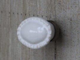 """Vintage Fehér """"Pearl"""" Fiókgomb - 3 cm."""