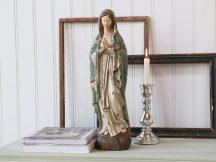 Antik Züld Madonna Rózsafüzérrel - 50 cm.