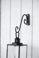 Vintage Fekete Fali Akasztó Lámpásokhoz - 17 cm