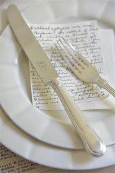 Vintage Ezüstözött Kés