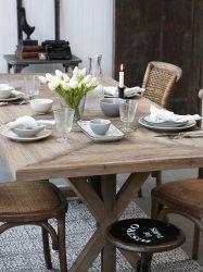 Francia Étkezőasztal Natúr Színben