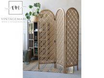 Vintage Bambusz Paraván - 150 cm.