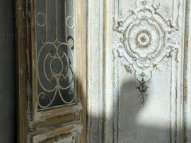 Antik Krém Vas Francia Fali Panel