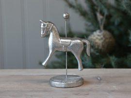 Antik Ezüst Cirkuszi Ló - 14 cm.