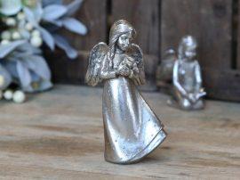Antik Ezüst Angyal Csillaggal- 15 cm.