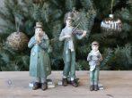Vintage Zöld Karácsonyi Zenekar - 3 Darabos Szett