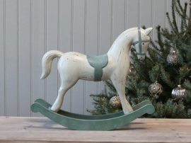 Antik Zöld Hintaló - 50 cm.