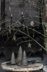 """Antik Fém """"Stillenat"""" Karácsonyfa - 22 cm."""