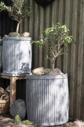 "Antik Cink ""Urban Garden"" 2 Darabos Kaspó Szett - 50 cm."