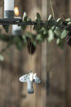 Antik Cink Gomba Akasztható Dísz