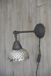 Vintage Mercury Üveg Fali Lámpa