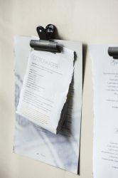 Antik Fekete Papír Csipesz  - 7,5 cm.