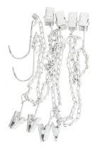Vintage Fehér 8 Csipeszes Tároló Lánc