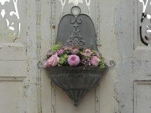 Régi Francia Falra Szerelhető Virágtartó