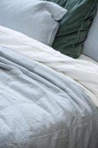 Vintage Világoskék Nagyméretű ágytakaró - 240*240 cm.