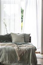 Vintage Világos Zöld Nagyméretű ágytakaró - 240*240 cm.
