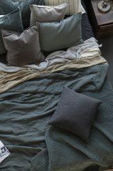 """Vintage """"Dusty Petrol"""" Nagyméretű ágytakaró - 240*240 cm."""