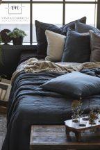 """Vintage """"Historical Blue"""" Nagyméretű ágytakaró - 240*240 cm."""