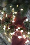 """Vintage """"Rhododendron"""" Velúr Csillag - 14 cm."""