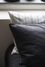 Vintage Fehér Párnahuzat Kék Csíkokkal 70*50 cm.