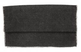 Vintage Fekete Pamut Asztali Futó - 140 cm.