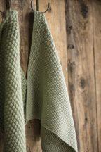 "Vintage ""MYNTE"" Olívazöld Konyhai Textil - 25 cm."