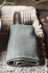 """Vintage """"MYNTE"""" Mohazöld Konyhai Textil - 25*25 cm."""