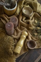 """Vintage """"MYNTE"""" Mustársárga Konyhai Textil - 60*40 cm."""