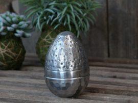 Vintage Ezüst Nyitható Tetejű Francia Tojás - 10 cm.