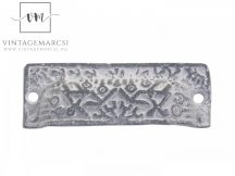 Antik Szürke Francia Fém Fiókgomb - 9,5 cm.