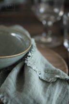 Vintage Zsályazöld Textilszalvéta