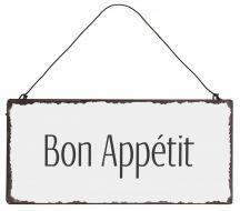 """Vintage """"Bon Appétit"""" Fém Tábla"""