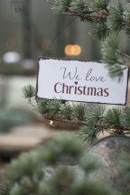"Vintage ""We love Christmas"" - 15 cm."