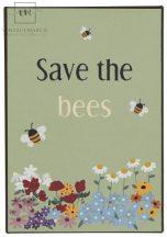 "Vintage ""Save the bees"" Fém Tábla - 20 cm."