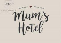 """Vintage """"Mum's Hotel"""" Fém Tábla - 20 cm."""